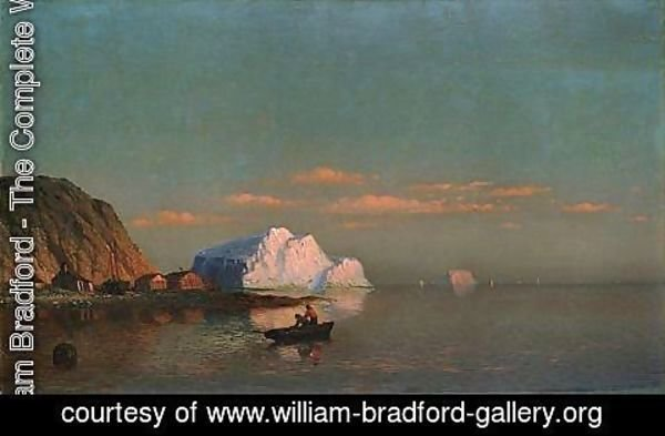 William Bradford - Sunset, Cape St. Michaels, Labrador