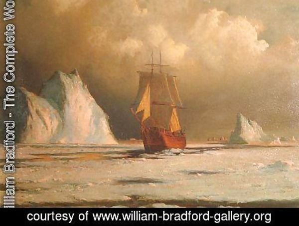 William Bradford - Working Through the Ice in Melville Bay