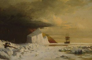 William Bradford - An Arctic Summer: Boring Through the Pack in Melville Bay