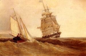 William Bradford - Passing Ships