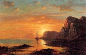 Seascape: Cliffs at Sunset