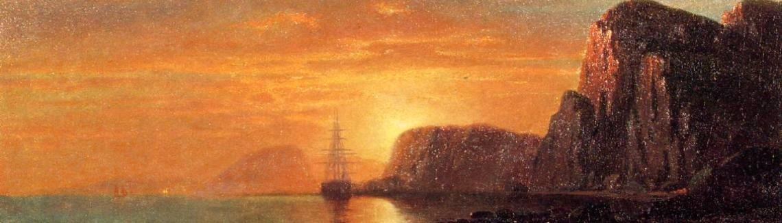William Bradford - Seascape: Cliffs at Sunset