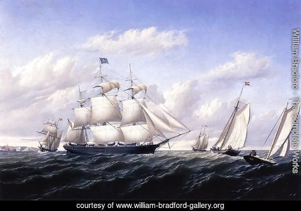 Whaleship 'Speedwell of Fairhaven, Outward Bound off Gay Head