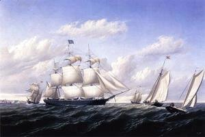 William Bradford - Whaleship 'Speedwell of Fairhaven, Outward Bound off Gay Head