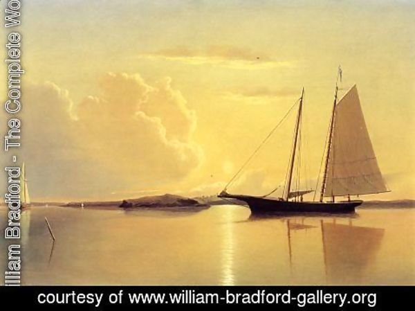 William Bradford - Schooner in Fairhaven Harbor, Sunrise