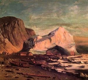 William Bradford - The Ice Gate of Cape St. Michael