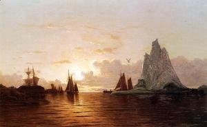 William Bradford - Sunset at the Strait of Belle Isle