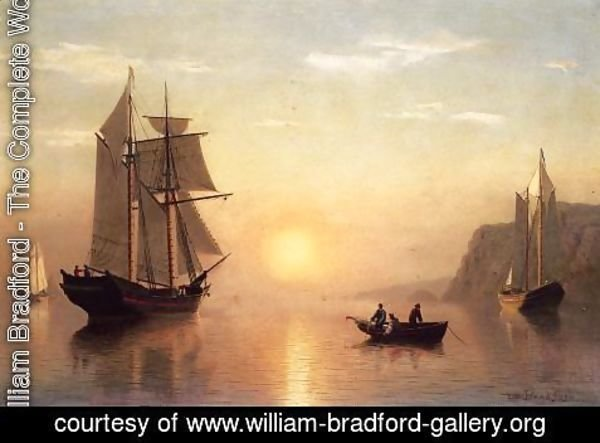 William Bradford - Sunset Calm in the Bay of Fundy