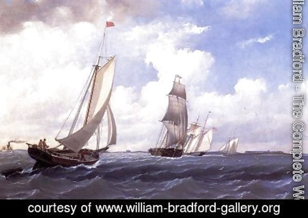 William Bradford - The ' Mary' of Boston Returning to Port