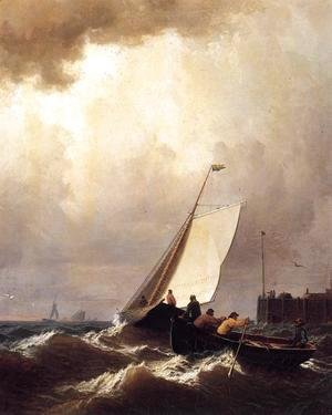 William Bradford - Rough Seas