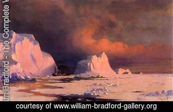 William Bradford - The 'Panther' in Melville Bay