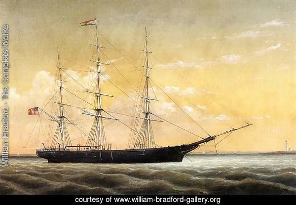 Whaleship 'Jireh Perry' off Clark's Point, New Bedford