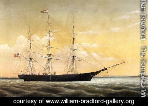 William Bradford - Whaleship 'Jireh Perry' off Clark's Point, New Bedford