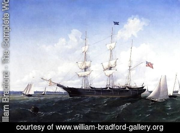 William Bradford - Whaling Bark 'J. D. Thompson' of New Bedford