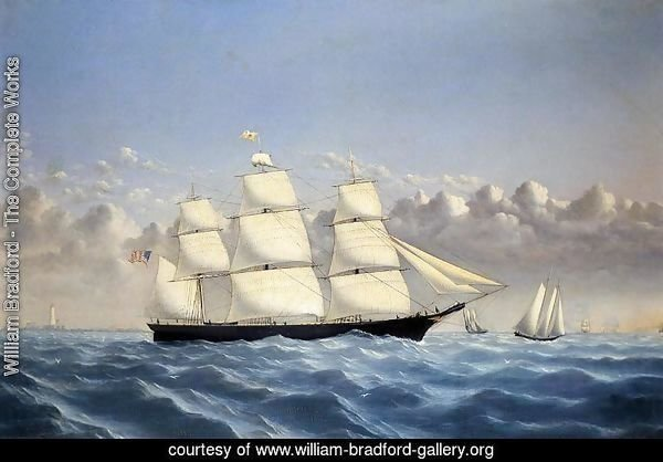 Clipper Ship 'Golden West' of Boston, Outward Bound