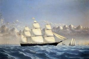 William Bradford - Clipper Ship 'Golden West' of Boston, Outward Bound