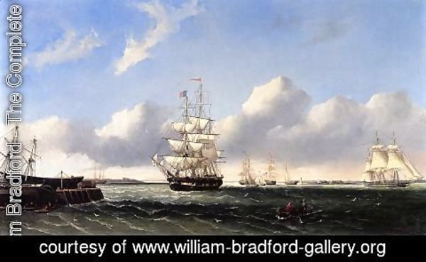 William Bradford - The Port of New Bedford from Crow Island