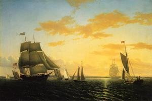 William Bradford - New Bedford Harbor at Sunset