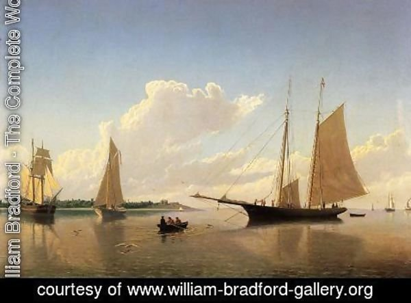 William Bradford - Stowing Sails off Fairhaven