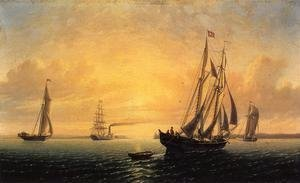 William Bradford - The Schooner 'Jane' of Bath, Maine