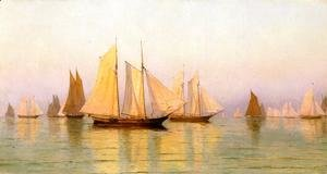 William Bradford - Sloops and Schooners at Evening Calm