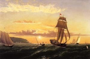 William Bradford - Sunrise on the Bay of Fundy