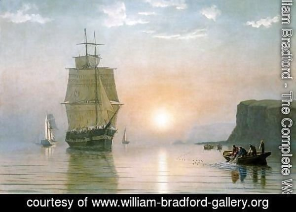 William Bradford - Sunrise off Grand Manan
