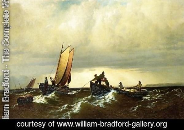 William Bradford - Fishing Boats on the Bay of Fundy I