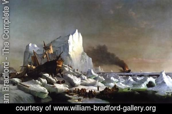 William Bradford - Sealers Crushed by Icebergs