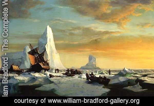 William Bradford - Whalers Trapped by Arctic Ice