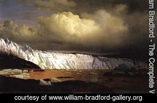 William Bradford - View of Sermitsialik Glacier