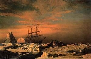 William Bradford - The 'Panther' among the Icebergs in Melville Bay