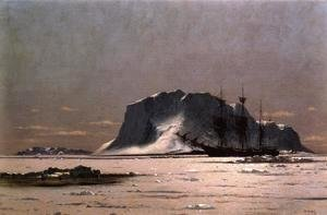 William Bradford - Freeing a Square Rigger