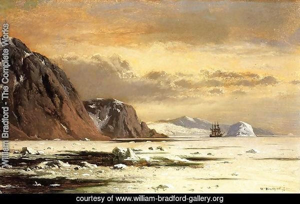 Seascape with Icebergs