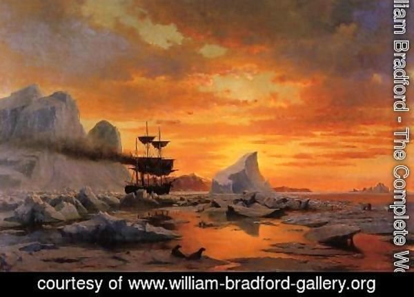 William Bradford - Ice Dwellers, Watching the Invaders