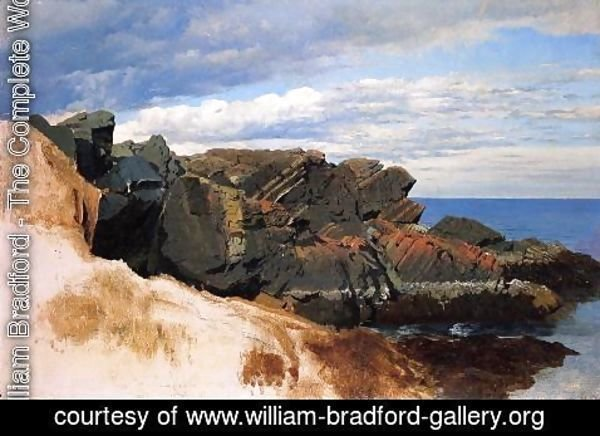William Bradford - Rock Study at Nahant, Massachusetts