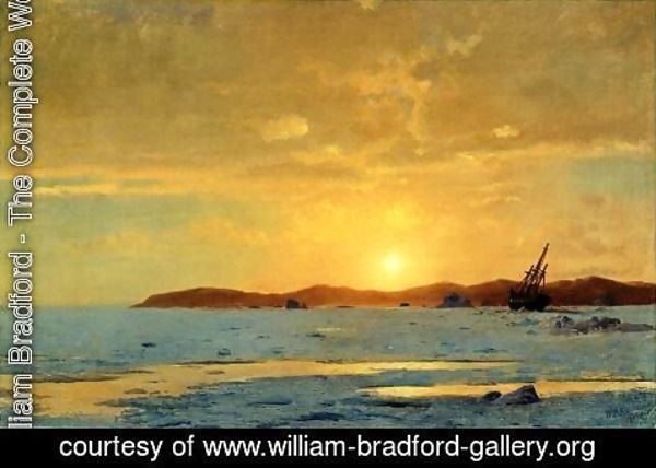 William Bradford - The Panther, Icebound