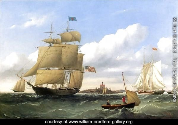 "The Whaleship ""Emma C. Jones"" off Round Hills, New Bedford"