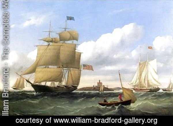"William Bradford - The Whaleship ""Emma C. Jones"" off Round Hills, New Bedford"