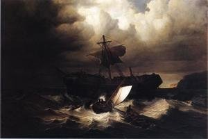 William Bradford - Wreck of an Immigrant Ship off the Cost of New England