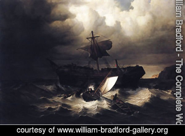 William Bradford - The Wreck of an Emigrant Ship on the Coast of New England
