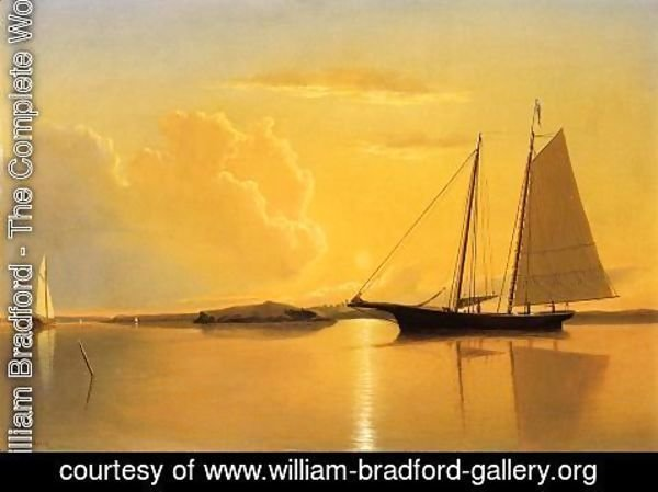 William Bradford - Sunset Anchorage