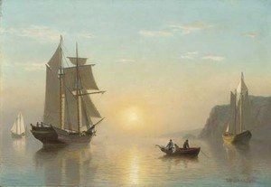 William Bradford - Sunset Calm in the Bay of Fundy 2