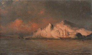 William Bradford - The Panther Among Icebergs