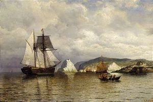 William Bradford - Entering harbor, coast of labrador