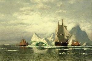 William Bradford - Arctic Whaler Homeward Bound Among The Icebergs