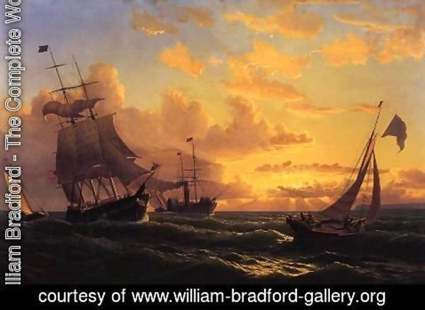 William Bradford - Fresh Breeze Of Sandy Hook
