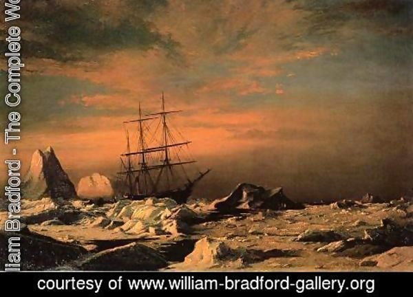 William Bradford - Ice Dwellers Watching The Invaders