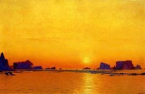 William Bradford - Ice Floes Under The Midnight Sun