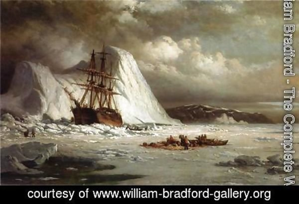 William Bradford - Icebound Ship c. 1880